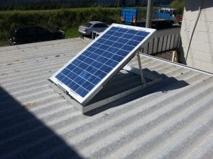 Solar panel for SLW