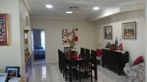 Dining room with three SLW lights